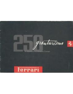 1958 FERRARI 250 GRANTURISMO BROCHURE DUITS