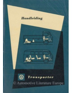 1961 VOLKSWAGEN T1 TRANSPORTER OWNERS MANUAL DUTCH