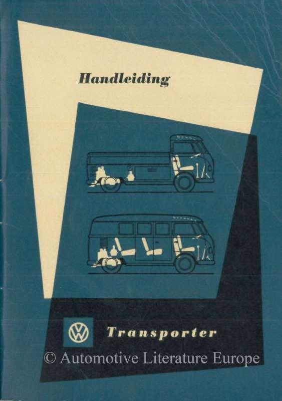 1961 VOLKSWAGEN T1 TRANSPORTER OWNERS MANUAL DUTCH