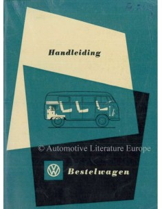 1954 VOLKSWAGEN T1 TRANSPORTER OWNERS MANUAL DUTCH