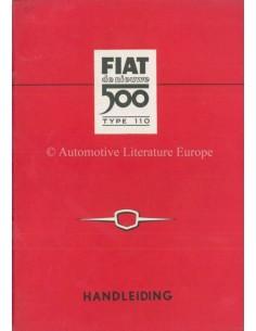 1960 FIAT 500 BETRIEBSANLEITUNG NIEDERLÄNDISCH
