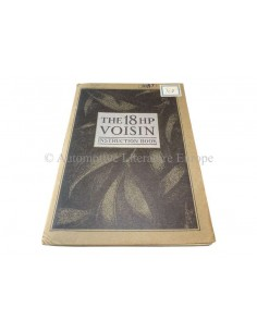 1924 VOISIN 14HP OWNERS MANUAL ENGLISH