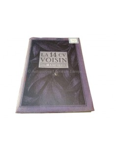 1926 VOISIN 14CV OWNERS MANUAL FRENCH