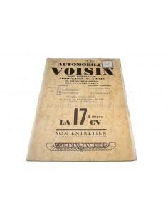 1929 VOISIN 17CV BETRIEBSANLEITUNG FRANZÖSISCH