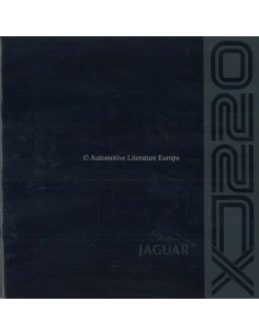 1992 JAGUAR XJ220 BROCHURE ENGLISH