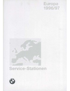1996/1997 BMW SERVICE DIRECTORY EUROPE HANDBOOK