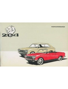 1967 PEUGEOT 204 COUPE CONVERTIBLE OWNERS MANUAL DUTCH