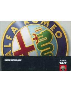 2001 ALFA ROMEO 147 BETRIEBSANLEITUNG NIEDERLÄNDISCH