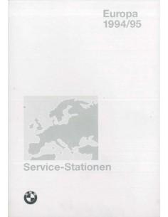 1994/1995 BMW SERVICE HÄNDLER VERZEICHNIS EUROPA HANDBUCH