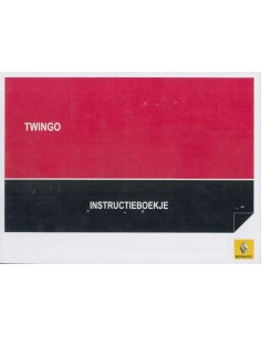 2011 RENAULT TWINGO OWNERS MANUAL DUTCH