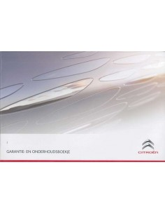 2013 CITROËN WARRANTY & MAINTENANCE HANDBOOK DUTCH
