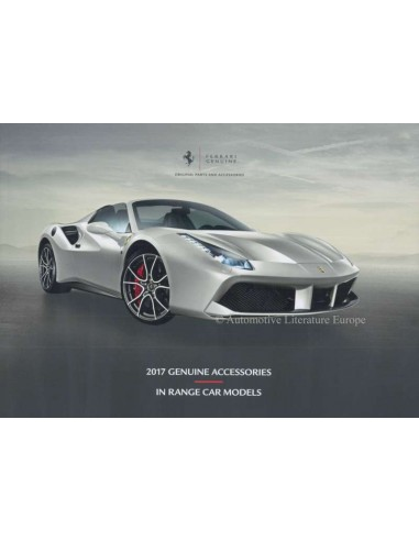 2017 FERRARI GENUINE ACCESSORIES BROCHURE ENGLISH