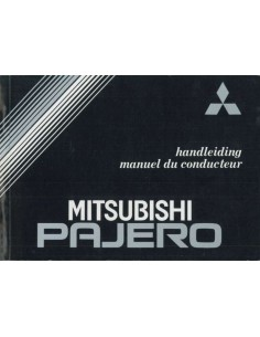 1988 MITSUBISHI PAJERO OWNER'S MANUAL DUTCH FRENCH