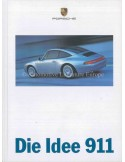 1997 PORSCHE 911 CARRERA TARGA & TURBO HARDCOVER BROCHURE GERMAN