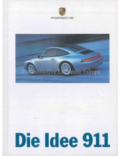1997 PORSCHE 911 CARRERA TARGA & TURBO HARDCOVER BROCHURE GERMAN