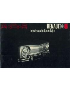 1969 RENAULT 8 OWNER'S MANUAL HANDBOOK DUTCH