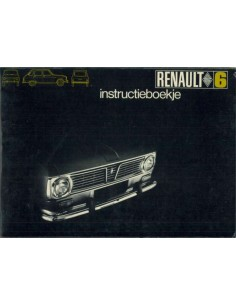 1969 RENAULT 6 OWNERS MANUAL HANDBOOK DUTCH