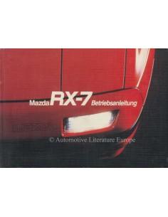 1986 MAZDA RX-7 TURBO BETRIEBSANLEITUNG DEUTSCH