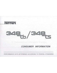 1990 348 TB TS CONSUMER INFORMATION MANUAL ENGLISH