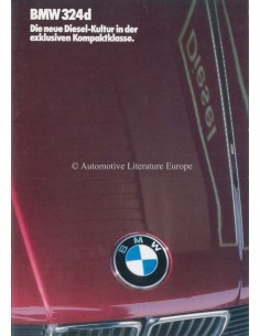 1986 BMW 3 SERIE DIESEL BROCHURE DUITS