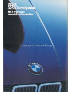 1986 BMW 3 SERIES 325IX BROCHURE GERMAN