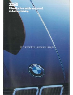 1986 BMW 3 SERIES 325IX BROCHURE ENGLISH