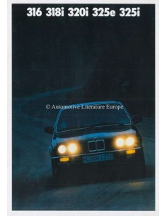1987 BMW 3 SERIES BROCHURE GERMAN
