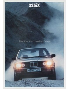 1987 BMW 3 SERIES 325IX BROCHURE DUTCH