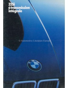 1985 BMW 3 SERIES 325I BROCHURE FRENCH