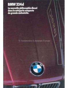 1985 BMW 3 SERIE DIESEL BROCHURE FRENCH