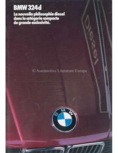 1985 BMW 3ER DIESEL PROSPEKT FRANZÖSISCH