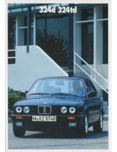 1987 BMW 3ER DIESEL PROSPEKT DEUTSCH