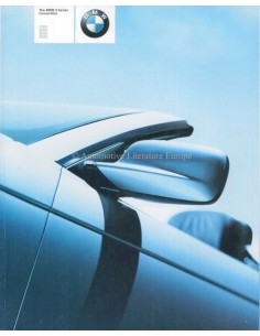 2001 BMW 3 SERIES CONVERTIBLE BROCHURE ENGLISH