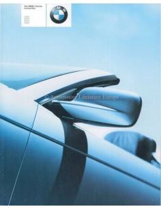2001 BMW 3ER CABRIO PROSPEKT ENGLISCH