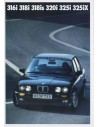 1989 BMW 3 SERIES SALOON BROCHURE GERMAN