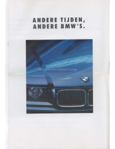 1990 BMW 3 SERIES SALOON BROCHURE DUTCH