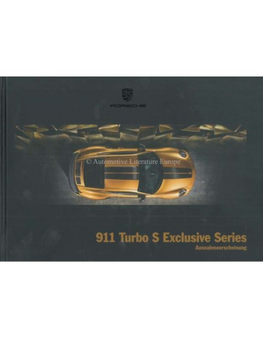 2018 PORSCHE 911 TURBO S EXCLUSIVE SERIES HARDCOVER BROCHURE GERMAN