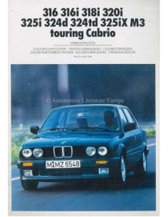 1988 BMW 3 SERIES COLOUR AND UPHOLSTERY BROCHURE