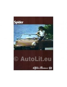 1980 ALFA ROMEO SPIDER BROCHURE DUTCH