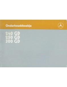 1987 MERCEDES BENZ G KLASSE 240GD 250GD 300GD ONDERHOUDSBOEKJE NEDERLANDS