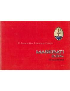 1989 MASERATI 2.24V OWNERS MANUAL ITALIAN