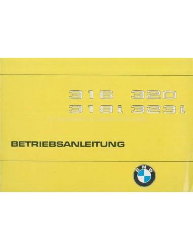 1980 BMW 3 SERIE INSTRUCTIEBOEKJE DUITS