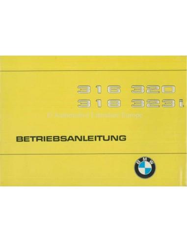 1979 BMW 3 SERIES OWNERS MANUAL GERMAN