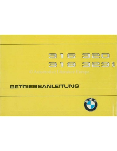 1979 BMW 3 SERIES OWNERS MANUAL GERMAN