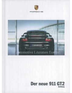 2008 PORSCHE 911 GT2 HARDCOVER BROCHURE GERMAN
