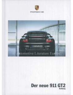 2008 PORSCHE 911 GT2 HARDCOVER PROSPEKT DEUTSCH