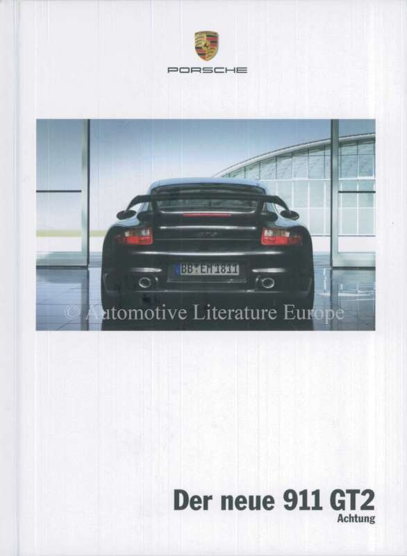2008 porsche 911 gt2 hardcover brochure german. Black Bedroom Furniture Sets. Home Design Ideas