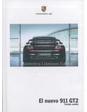 2008 PORSCHE 911 GT2 HARDCOVER BROCHURE SPAANS