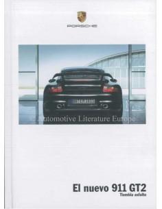 2008 PORSCHE 911 GT2 HARDCOVER PROSPEKT SPANISCH