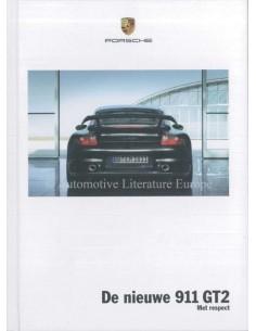 2008 PORSCHE 911 GT2 HARDCOVER PROSPEKT NIEDERLÄNDISCH